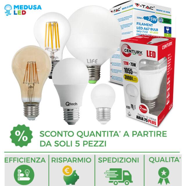 LAMPADINE LED V-Tac E27 3W a 24W Lampada Sfera Globo Bulbo Miniglobo Goccia