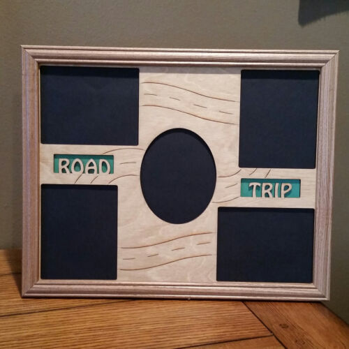11x14 Road Trip Laser Engraved Picture Frame w// 5 Photo Holes
