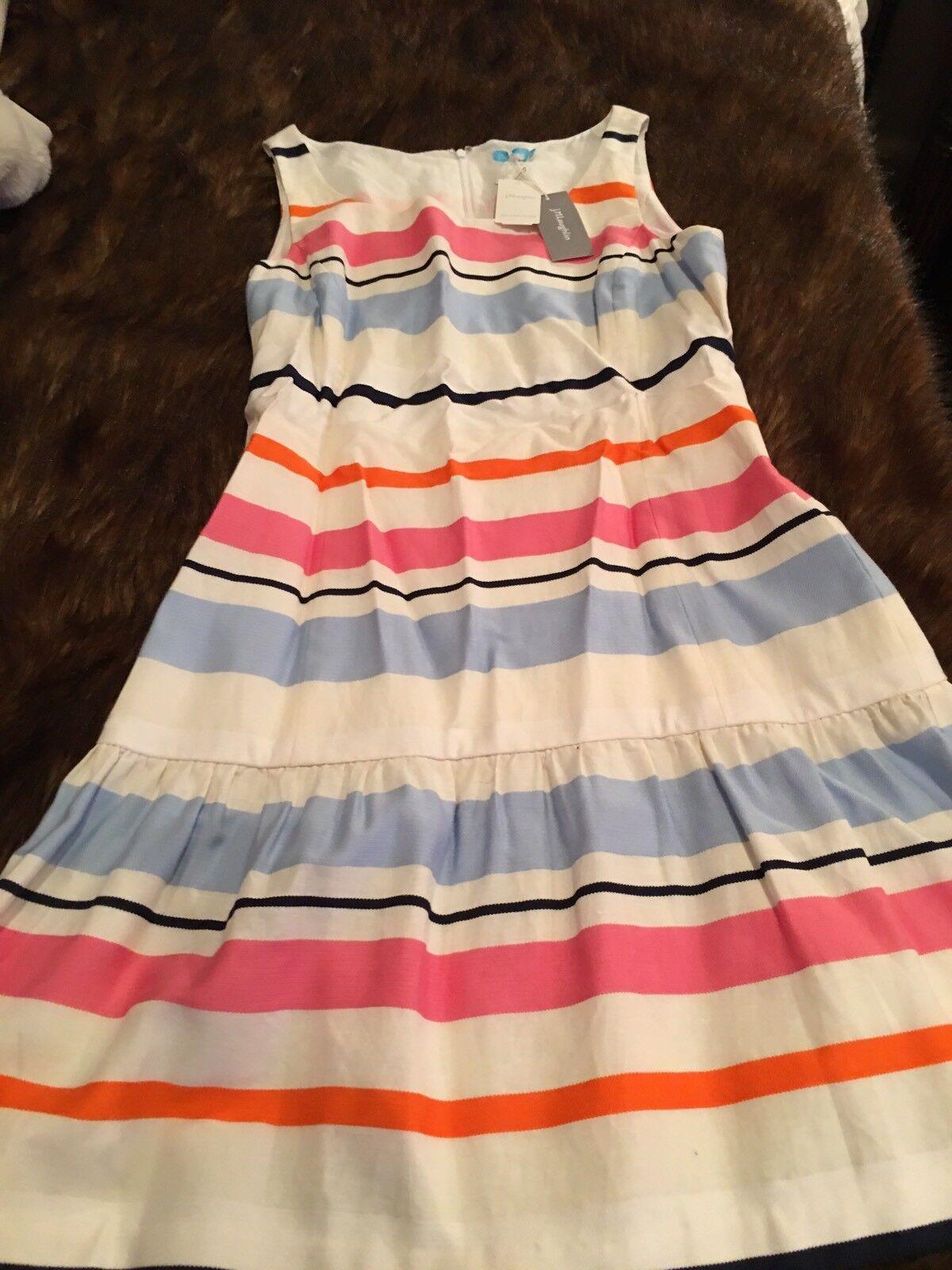 NWT JMcGlaughlin Linen Cotton Dress, Sz 10
