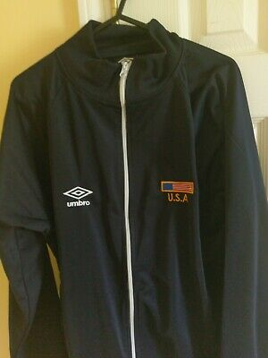 Umbro Mens Soccer Zip Up Tricot Jacket Diamond Pattern Black Blue Pink New Sz L