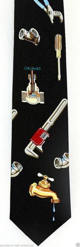 Plumber Tools Men/'s Necktie Home Improvement Handyman Plumbing Pipe Neck Tie