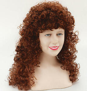 Long ginger curly perm wig fancy dress ebay image is loading long ginger curly perm wig fancy dress urmus Choice Image