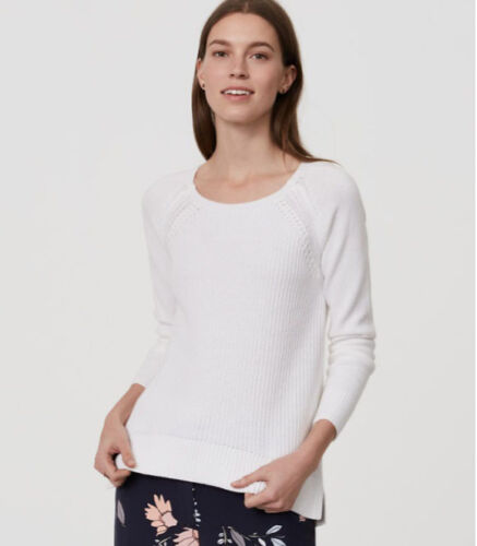 M RT$59.50 L LOFT Ribbed Pointelle New Sweater XL in Three Colors Sizes: S