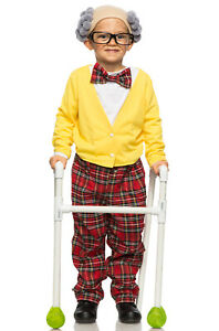 Brand New Grandpa Old Man Grandfather Child Costume