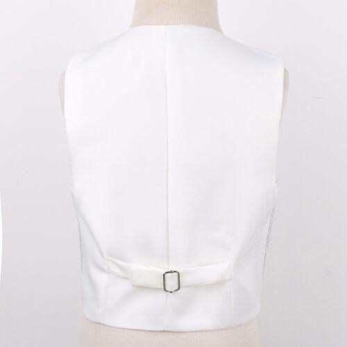 Kids Boys Gentleman Vest Waistcoat Tuxedo Wedding Formal Costume Suit Clothes