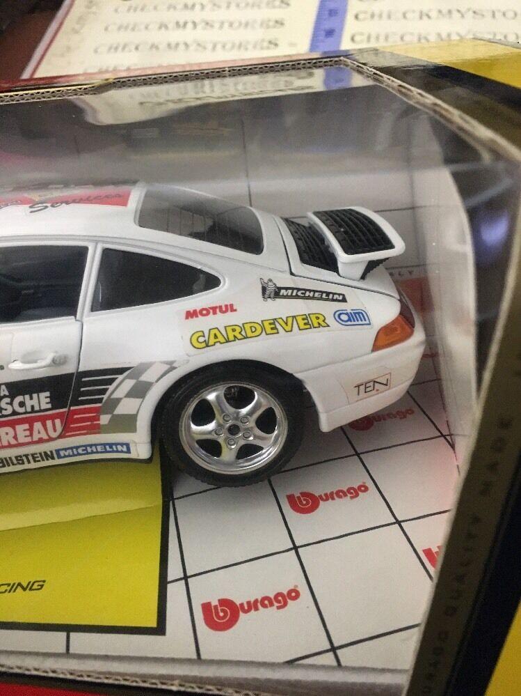 New Bburago  1 18 1993 1993 1993 Porsche 911 Carrera Racing Le Mans Made  31da79