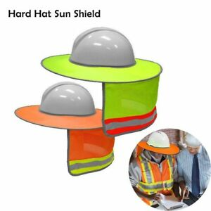 Safety-Helmet-Sun-Shade-Hard-Hat-Neck-Shield-Reflective-Stripe-Cover