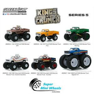 Greenlight-1-64-Kings-of-Crunch-Series-5-Monster-Truck-Solid-Pack-Set-of-6
