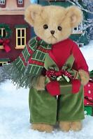 Bearington Bears Preston Presents Plush Christmas Teddy Bear With Gift, 14 Tall