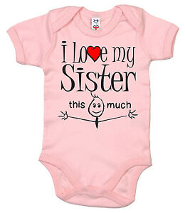 Funny Baby Bodysuit I Love My Sister Sisters Brother Sister
