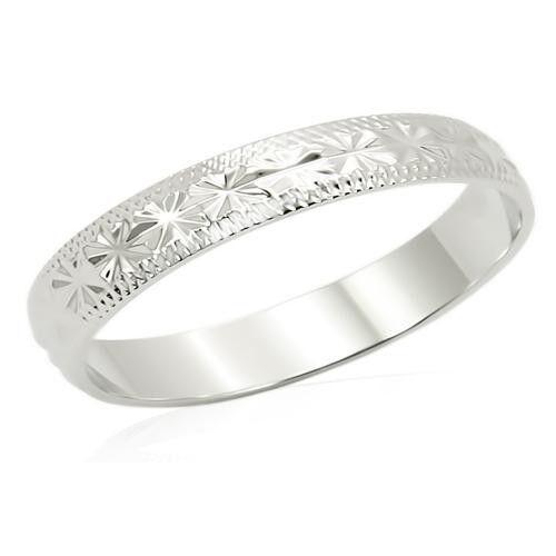 4 MM 18kt White Gold EP Unisex Wedding Band Ring Size 11