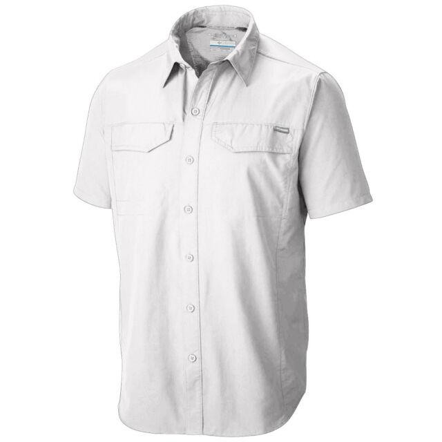 4e3b97c8c57 Columbia Silver Ridge Short Sleeve Shirt Men's Medium M White UPF 50 ...