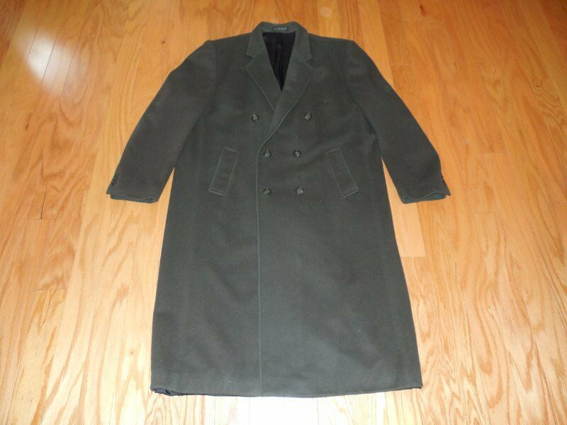 GIANFRANCO Ruffini  CASHMERE Blend Dbl Breasted Loden GREEN Top COAT 48L
