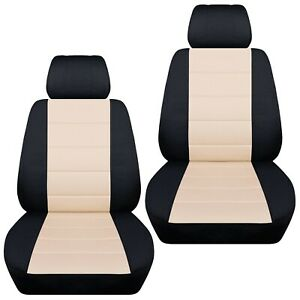 Fits-2009-2013-Mazda-3-front-set-car-seat-covers-black-and-sand