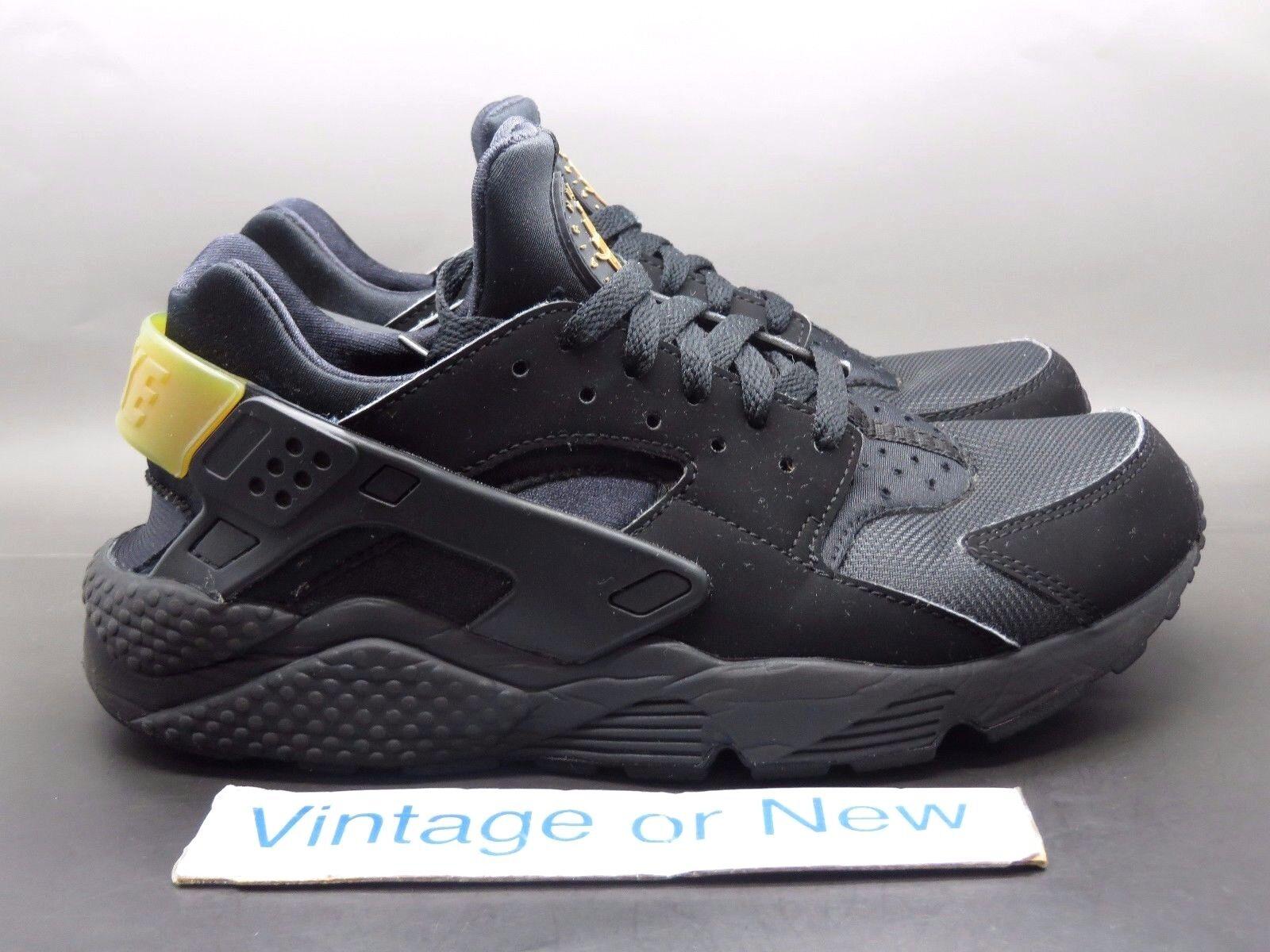 Men's Nike Metallic Air Huarache Run Black Metallic Nike Gold Medal Running Shoes sz 8 e2a14e