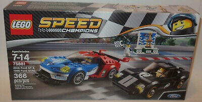 LEGO Speed Champions 75881 2016 Ford GT /& 1966 Ford GT40 NISB New /& Sealed