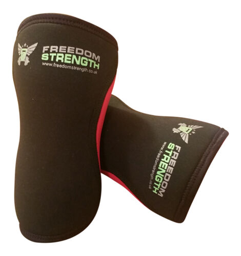 PAAR Knie Ärmellos ROT 7mm Paar crossfit strongman power lifting gewichteheben