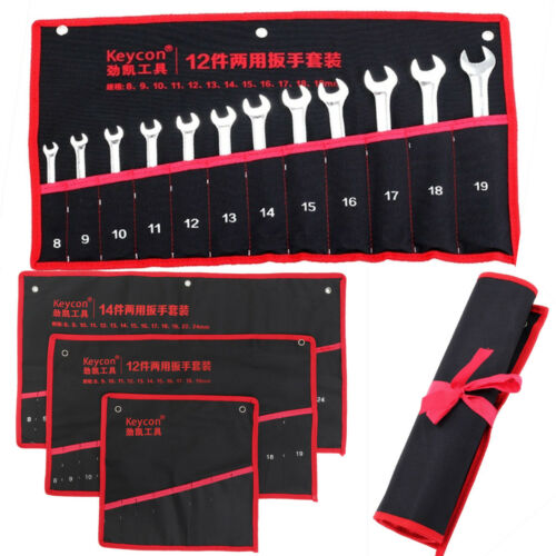 8//10//12//14//20 Pocket Maulringschlüssel Rolltasche Werkzeugrolltasche