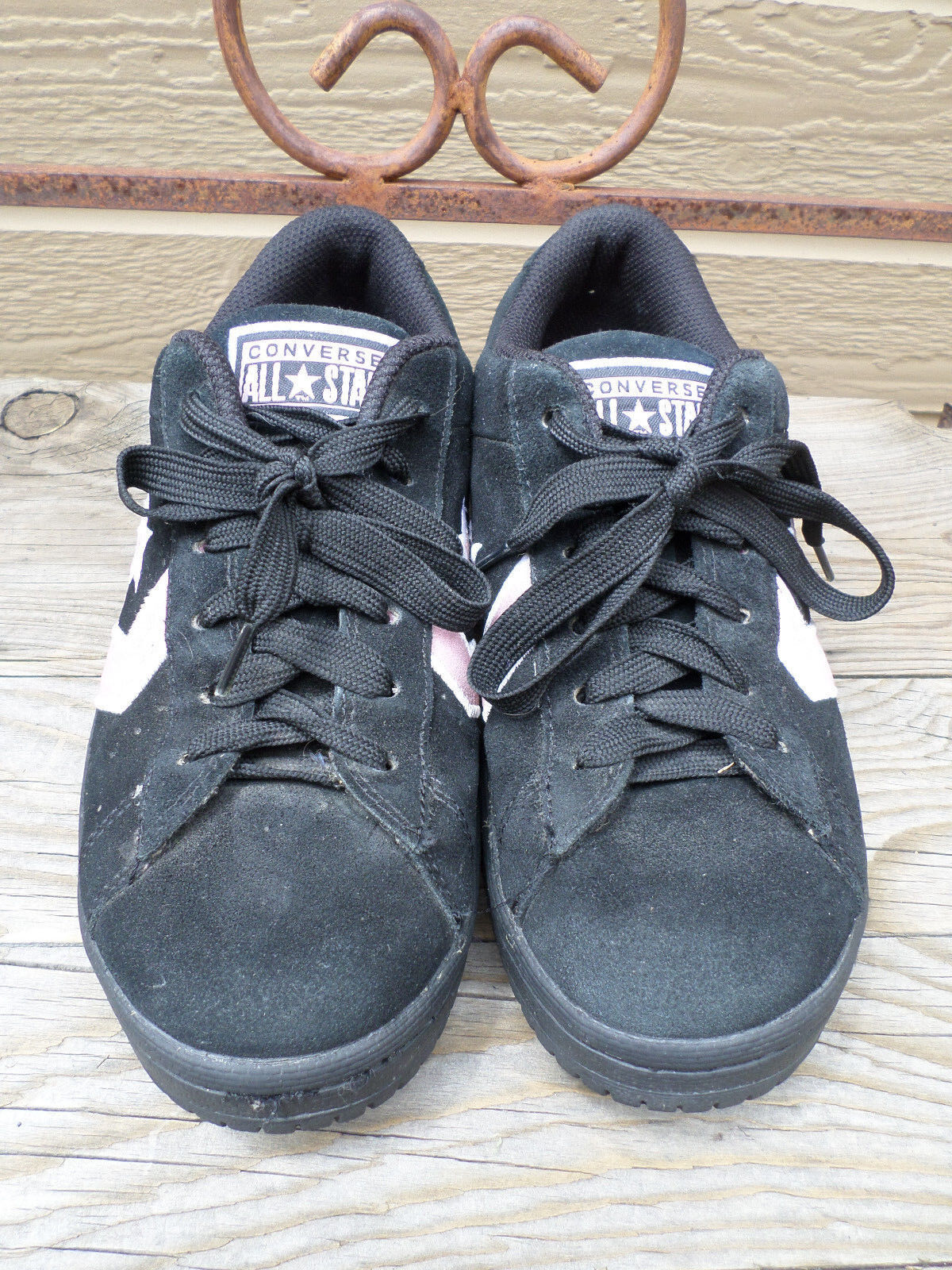 Converse All Star Black Suede Sneakers Women's 9.5
