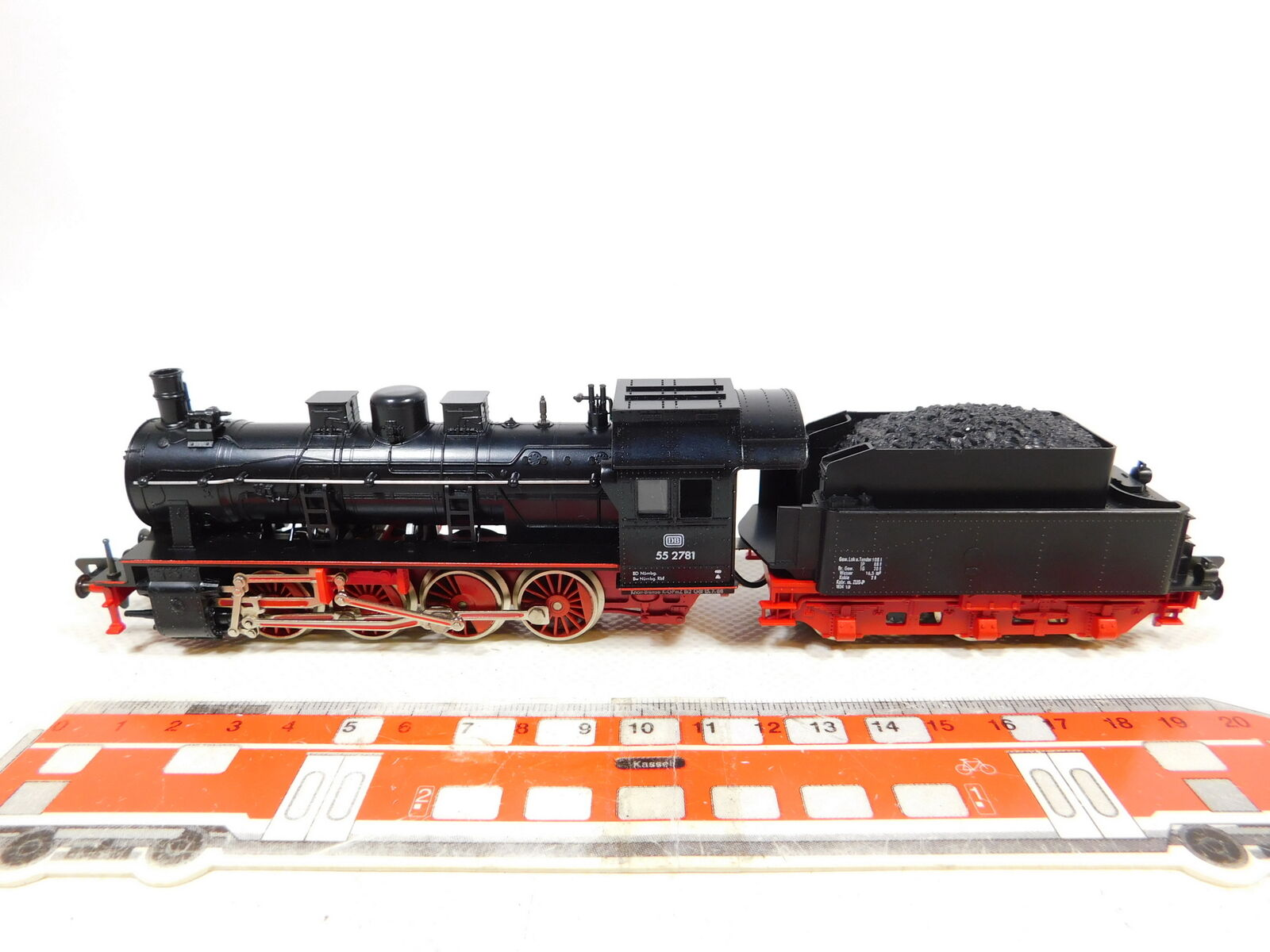 Cd185-1  Fleischmann h0 dc 4145 máquina de vapor vapor locomotora 55 2781 DB, Neuw