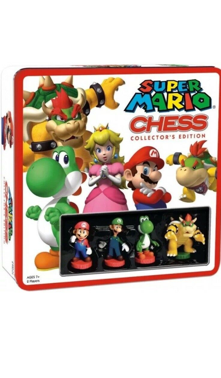 Super Mario Chess Collectors edizione tavola gioco Tin Sealed  nuovo  comprare a buon mercato