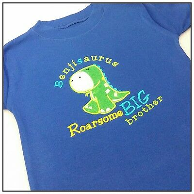 Personalised Dinosaur T shirt Big Brother T shirt Brother Custom