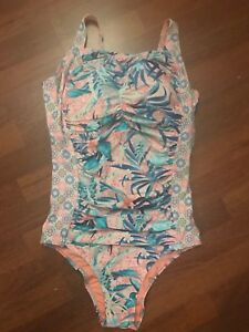Brand New Ex M/&S Tummy Control Secret Slimming Printed Swimsuit Sizes 8-22