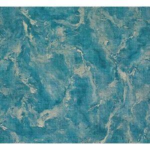 Marble-Vinyl-Blue-gold-metallic-faux-fabric-texture-Wallpaper-textured-M5645-3D