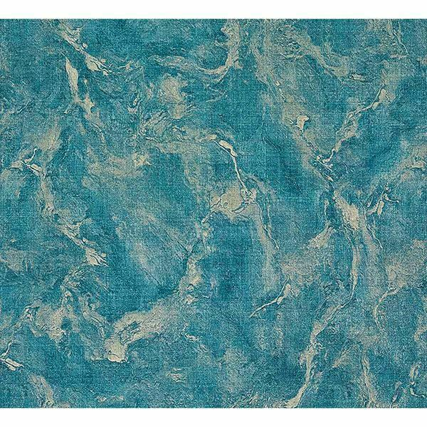 SKY BLUE SILVER TEXTURED VINYL MARBLE EFFECT WALLPAPER