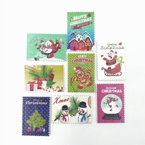 DIY Wooden Christmas stamp Mixed Wooden Buttons Sewing Scrapbooking 34mm