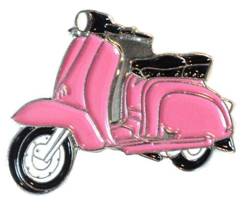 Pink Girls Scooter Female Scooterist MOD Scooter Bike Enamel Metal Pin Badge 1