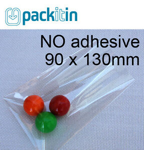 90-x-130mm-100-qty-NON-seal-NO-adhesive-Clear-Cellophane-Cello-Cake-Pop-Bags