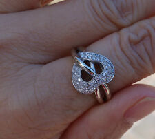 .50ct Micropave Heart diamond promise right-hand ring 14k WG