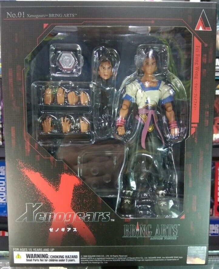 Official Square Enix Xenogears Fay Wong Fei Phong Action Figure   Bring Arts