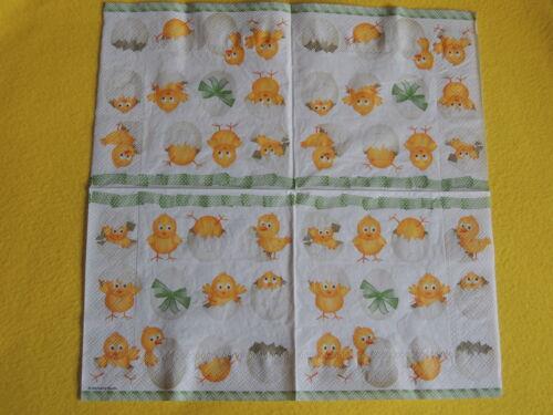 20 servilletas funny Island Pascua polluelos 1 envase OVP mono huevos de cáscara amb
