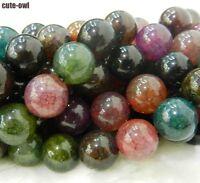 6mm Dream Dragon Vein Agate Gems Round Loose Beads 15''