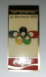 Jolis-pin-039-s-ancien-coca-cola-Montreal-1976-XXI-eme-olympiad