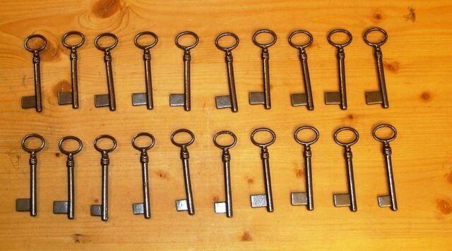 Schlüssel Länge 75 mm - 20 Stück