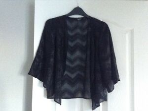 Girls-Black-Sparkle-3-4-Sleeved-Kimono-Size-M-From-New-Look
