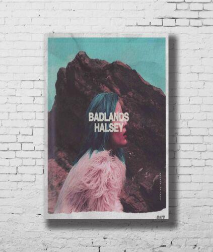 Hot Gift Poster Halsey Badlands Music Album Cover Singer Star F-3503
