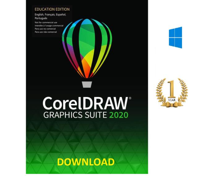 Corel DRAW Graphics Suite 2021/2020 for Windows DOWNLOAD (AUTHORIZED DEALER)