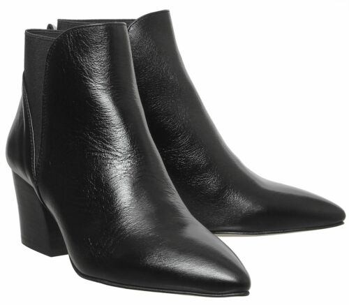 Womens Office Alamo Chelsea Boots Black Leather Boots