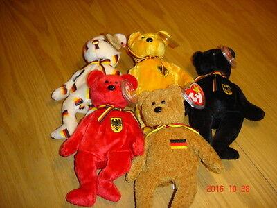 Stofftiere Ty Beanie Deutschlandbären 5 Stück Sammlerkonvolut Geeignet FüR MäNner Und Frauen Aller Altersgruppen In Allen Jahreszeiten