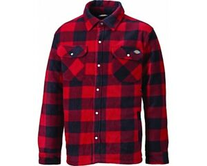 Camisa-de-trabajo-Dickies-Portland-Acolchado-Lumberjack-Camisa-Informal-SH5000-Rojo-Tamano-S-4XL