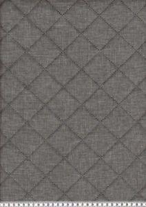 Steppstoff-034-Moskau-034-wattiert-grau-meliert-Oko-Tex-Standard-100