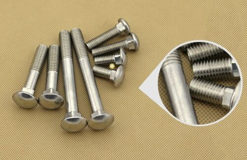 5Pcs M6 M8 Coach Bolts Cup Square Carriage Bolt Screws 304 Stainless Steel DIY