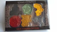 New Game of Thrones Sigil Cookie Cutters 6 House shields HBO licensed NIB