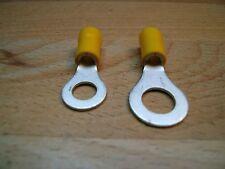 40 Kabelringschuhe, gelb, M6 und M8, Ringkabelschuhe bis 300 Volt verwendbar