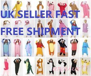 Animal-Unisex-Pyjamas-Adult-jumpsuit-Fancy-Dress-Kigurumi-Pajamas-Outfit-UK-Sell
