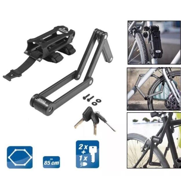 Abus Bordo Centium High Security Bicycle Lock 6010//90 Folding Bike Lock Black
